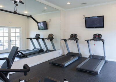 Weights and cardio machines on Fitness Center